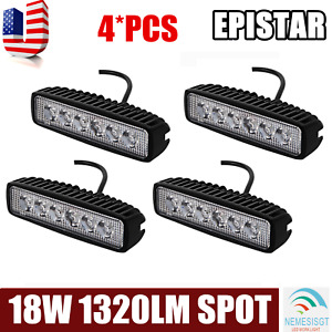 4x 4inch 18w Cree Led Work Light Bar Pods Spot Beam Cube Offroad Suv Atv Ute 4wd