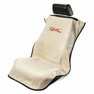 Gmc Logo Tan Console Seat Armour Cover For Gmc All Model