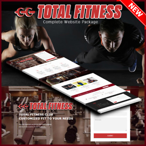 Total Fitness Website Yoga Exercise Gym And Hosting Domain Web Page Design