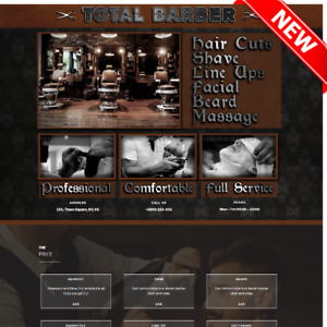 Total Barber Website Hair Style Salon With Hosting And Domain Web Page Designer