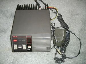 Ge Mlsh041 High Band Mobile 2 way Radio 150 174 Mhz 40 Watts 16 Channel Works