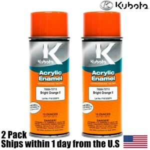 2pk Genuine Oem Kubota Orange Touch Up Spray Paint 70000 73713