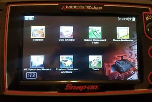Almost New Snap on Modis Edge Scan Tool W Euro Upgrade 17 2 Harley Davidson