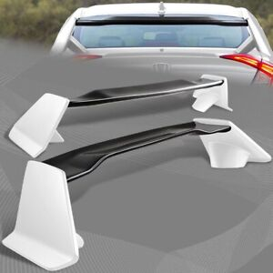 For 2016 18 Honda Civic 4dr sedan Type r Factory White Trunk Real Carbon Spoiler