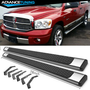 Fits 02 08 Dodge Ram Quad Cab 78inch Ram Oe Style Nerf Bars Running Boards Ss