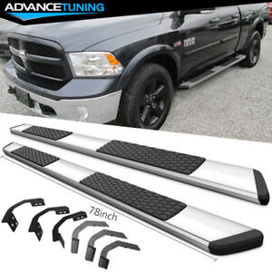 Fits 09 16 Dodge Ram Quad Cab 78inch Oe Style Nerf Bars Running Boards Chrome