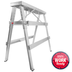 Drywall Bench Sawhorse Step Ladder Adjustable Height Workbench 18 44