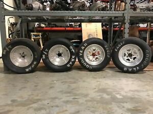 4 Wheels And Tires Vintage Old Classic Mickey Thompson Slicks Slick Drag Racing