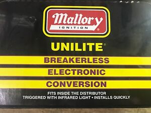 New Mallory 559 Unilite Conversion Kit Yl Series Distributor W Flat Cap