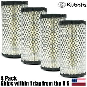 4pk Genuine Oem Kubota Air Filter K1211 82320 Bx2200 Bx1500 Bx1800 Zd18 Zd21