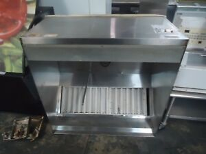 used 48 Stainless Steel Restaurant Grease Exhaust Hood W Make Up Air