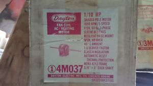 Dayton 1 10 Hp 1050 Rpm Single Phase Ac Blower Motor 4m037 New In Original Box