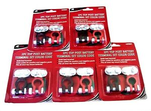 10 Ate Pro Color Coded Heavy Duty Top Post Positive Negative Battery Terminals