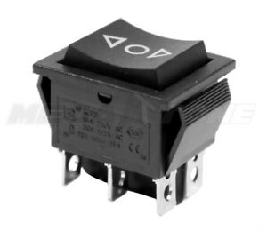 Dpdt on off on 20 Amp 125vac Momentary 6 pin Rocker Switch Kcd2 Usa Seller