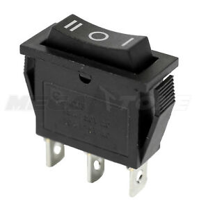 New Spdt On off on Rocker Switch W black Actuator Kcd3 20a 125vac Usa Seller