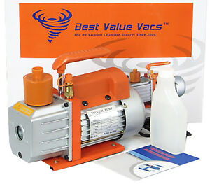 Best Value Vacs 3cfm Single Stage Vacuum Pump Refurbished Free Shipping