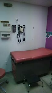 Pediatric Exam Table mauve red