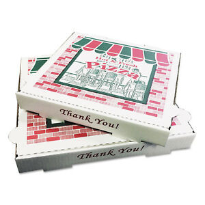 Pizza Box Takeout Containers White Bundle Top Quality Oven 12in X 12d X 1 3 4h