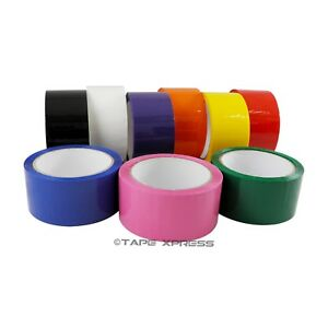 2 X 55 Yd 1 Roll Packing Tape Carton Sealing Several Colors Free Shipping