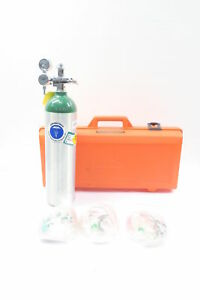 New Mada Medical Un1072 Chemtron Compressed Oxygen Cylinder Tank D598195