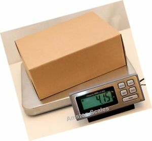 200 Lb X 0 05 Lb Digital Postal Postage Shipping Scale Stainless Steel Platfo
