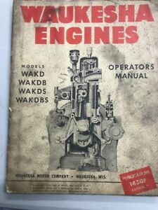 Waukesha Engines Operators Manual