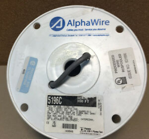 Alpha Wire 5196c 22 Awg 7 30 Shielded Wire Slate 100ft Spool