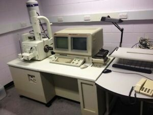 Joel Jsm 5800lv Electron Scanning Microscope With All Component Complete Unit