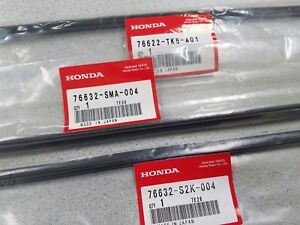 New Genuine Honda Fit Wiper Refill Insert Set 2009 To 2013 For Factory Blades
