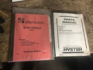 Hyster S135 155xls Literature Packet And Parts Manual