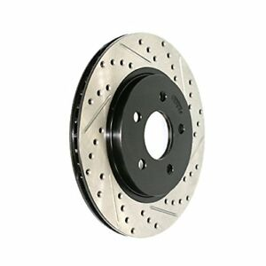 Stoptech 127 61087l 05 10 Mustang Slotted Drilled Left Rear Rotor