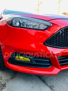 2015 2016 2017 2018 Ford Focus St Fog Light Yellow Overlay Vinyl Tint Precut Set