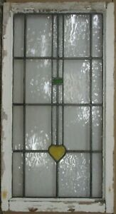 Large Old English Leaded Stained Glass Window Simple Geometric 20 5 X 38