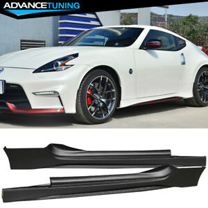 Fits 09 19 Nissan 370z Ns Style Side Skirts 2pc Unpainted Black Pp