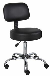 Medical Spa Stool Doctor Dentist Office Desk Rolling Seat Cushioned Back Chair