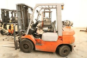 Used 5000 Lbs Toyota Pneumatic Forklift