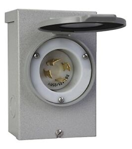 Indoor Outdoor Durable Electrical Power Inlet Box For 30a L14 30 Generator Cord