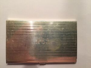 Vintage Exquisite Tiffany Co Sterling Business Card Case Mono 54g Authentic