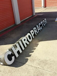Led Lighting Advertising Shop Outdoor Sign Chiropractor Signage Channel Letters