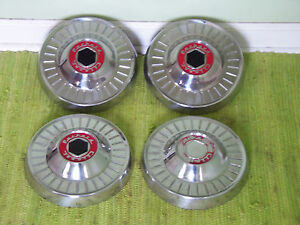 1954 Packard Clipper Dog Dish Hub Caps 10 Set Of 4 Poverty 54 Hubcaps