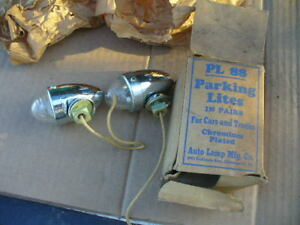 Parking Lights Fender Vintage Torpedo 32 Ford 48 Chevy 49 Truck 39 Chevy Nos