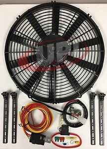 30100385 14 Spal Electric Puller Fan W Wiring Mounting Kit 195fh 30130011