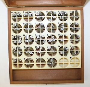 Kingsley Stamping Machine Co Letters 223 Piece Type Box