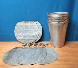 3 Maple Syrup Aluminum Sap Buckets 3 Galvanized Lids Covers Taps Spiles Spouts