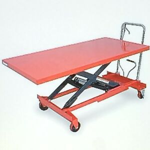 Table Lift Cart Hydraulic On Casters With Break 63 X 31 1 2 Model 4zc18 New