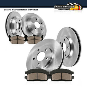 Front Rear Rotors Ceramic Brake Pads For 2006 2010 Chevy Impala Monte Carlo