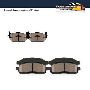 Front Rear Ceramic Brake Pads Set For 2002 2003 2004 2005 2006 Nissan Altima