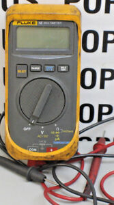 Used working Fluke 16 Digital Multimeter W test Leads