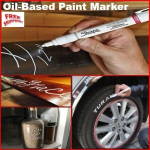 White Oil Based Lettering Waterproof Permanent Paint Marker Write On Tire Wood