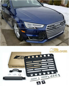 Eos Front Bumper Tow Hook License Plate Relocator Bracket For 2017 Up Audi A4